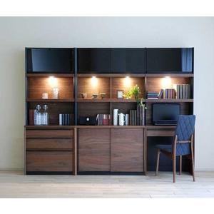 家具産地大川の家具職人製作 DecolaウォールナットRN色W240×H180 スライド100・デスク70・チェスト70SET|ekaguya