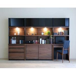 家具産地大川の家具職人製作 DecolaウォールナットRN色W260×H180 スライド120・デスク70・チェスト70SET|ekaguya