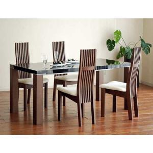 UV塗装テーブル W1604×D904×H701  DT531-160HB/CH+椅子CBL5310CH/WH×4脚 大川製|ekaguya