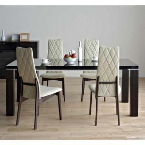 UV塗装DT531HB/UG180テーブル+CF540H椅子UG/EIV×4 テーブル天板.脚・椅子木部.張生地色対応 受注生産 家具産地大川製|ekaguya