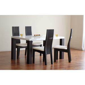 UV塗装テーブル W1404×D904×H701  DT531-140RW/UG+椅子CBL5310UG/WH×4脚 大川製|ekaguya