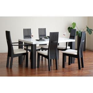 UV塗装テーブル W1604×D904×H701  DT531-160RW/UG+椅子CBL5310UG/WH×4脚+CBL5311UG/WH×2脚 大川製|ekaguya