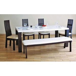 UV塗装テーブル W1804×D904×H701  DT531-180RW/UG+椅子CBL5310UG/WH×4脚+CBL531UG/WH145ベンチ 大川製|ekaguya