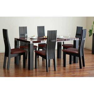 UV塗装テーブル W1604×D904×H701  DT531-160SR/UG+椅子CBL5310UG/DR×6脚 大川製|ekaguya