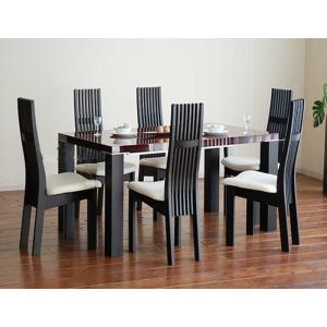 UV塗装テーブル W1604×D904×H701  DT531-160SR/UG+椅子CBL5310UG/WH×6脚 大川製|ekaguya