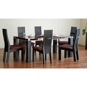 UV塗装テーブル W1804×D904×H701  DT531-180SR/UG+椅子CBL5310UG/DR×6脚 大川製|ekaguya