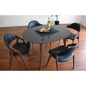 幅120×奥90 UV塗装テーブル 天板色 脚色が選べるDT532HB/CH120楕円+椅子CBL5320CH/BL×4 椅子本体は3色 張生地は12色対応|ekaguya