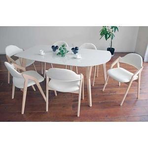 幅160×奥90 UV塗装変形テーブル 天板色 脚色が選べるDT532HW/RB160変形+椅子CBL5320UG/RB×6 椅子本体は3色 張生地は12色対応|ekaguya