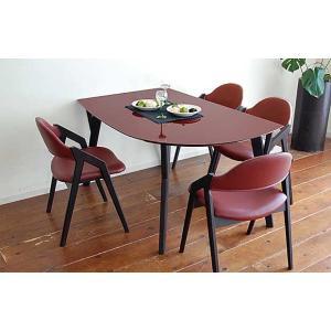 幅140×奥90 UV塗装変形テーブル 天板色 脚色が選べるDT532SR/UG140変形+椅子CBL5320UG/DR×4 椅子本体は3色 張生地は12色対応|ekaguya