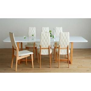 UV塗装DT540RW/OC240テーブル+CF540H椅子OC/WH×8脚 テーブル天板.脚・椅子木部.張生地色対応 受注生産 家具産地大川製|ekaguya