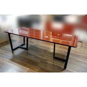 UV塗装 DT540SR/BL 220テーブルW220×D90×H70 天板.脚 色対応 受注生産 家具産地大川製|ekaguya