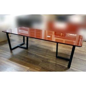 UV塗装 DT540SR/BL 240テーブルW240×D90×H70 天板.脚 色対応 受注生産 家具産地大川製|ekaguya