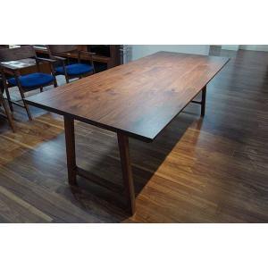 encore Dテーブル210RN セラウッド塗装 アンコールDT210 リアルナットナチュラル色  W2100×D900×H720 ウォールナット材|ekaguya
