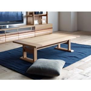 Etra LivingTable120 ON色 エラト120テーブルオークナチュラル W120D59H32Applique アプリケLテーブル 国産大川製|ekaguya