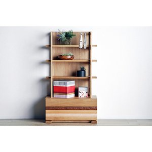Erato L shelf80 ON色 エラト Lシェルフ80 オークナチュラル 幅800×高1400×奥行450 ホワイトオーク材 Applique アプリケLシェルフ80|ekaguya