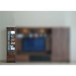 ウォールナット et Coeur 幅383×高1550 エクールRN色 キュリオ38 家具産地大川製|ekaguya