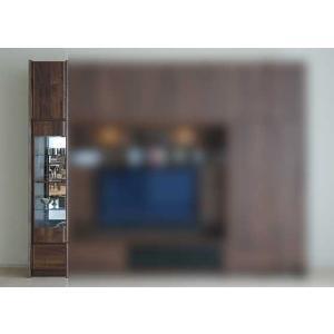サイズ受注生産 ウォールナット et Coeur 幅383×高1900-2140 エクールRN色 キュリオ38+上置M 家具産地大川製|ekaguya