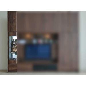 サイズ受注生産 ウォールナット et Coeur 幅383×高2150-2480 エクールRN色 キュリオ38+上置H 家具産地大川製|ekaguya