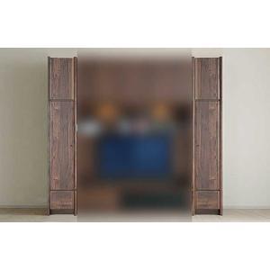 サイズ受注生産 ウォールナット et Coeur 幅383×高1900-2140 エクールRN色 板戸38+上置M 家具産地大川製|ekaguya