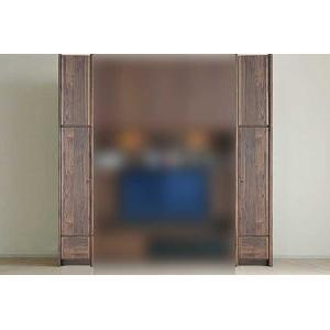 サイズ受注生産 ウォールナット et Coeur 幅383×高2150-2480 エクールRN色 板戸38+上置H 家具産地大川製|ekaguya