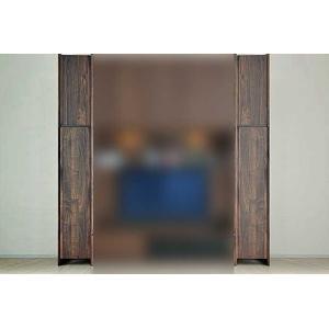 サイズ受注生産 ウォールナット et Coeur 幅200-400×高2150-2480 エクールRN色 ロッカー+上置H 家具産地大川製|ekaguya