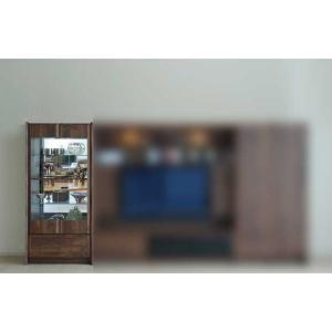 ウォールナット et Coeur 幅722×高1550 エクールRN色 キュリオ72 家具産地大川製|ekaguya