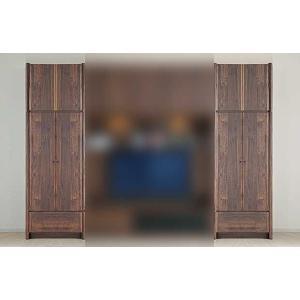 サイズ受注生産 ウォールナット et Coeur 幅722×高1900-2140 エクールRN色 板戸72+上置M 家具産地大川製|ekaguya