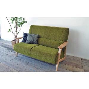 厳選国産 FAIN 2P ファイン 2人用 ソファー 布張り W1370×D850×H880×SH400 張地・木部色が選べる 受注生産|ekaguya