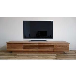 幅2200×高400×奥行445 天板・前板チェリー材無垢 Gally220/40cnTV ガリー チェリーナチュラル色 セラウッド塗装|ekaguya