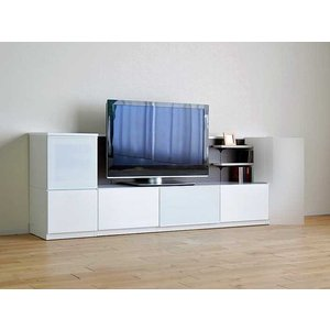 Luzz RW色 総幅2230×高850×奥行445 ルッツTV180+キャビ ロイヤルホワイト色 UV塗装|ekaguya