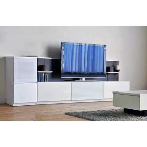 Luzz RW色 総幅2530×高850×奥行445 ルッツTV210+キャビ ロイヤルホワイト色 UV塗装|ekaguya