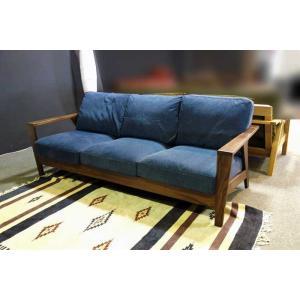 厳選国産 ウォールナット三人用ソファー MALf1-3 W200×D83×H76 orレッドオークorタモの木種・張生地・オイルorウレタン塗装が選る|ekaguya