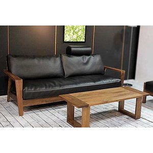 厳選国産 ウォールナット三人用ソファー MALu2-3 W200×D83×H76 orレッドオークorタモの木種・張生地・オイルorウレタン塗装が選る|ekaguya