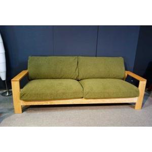 厳選国産 レッドオーク2人用ソファー MFRf1-2 W160×D83×H76 orウォールナットorタモの木種・張生地・オイルorウレタン塗装が選べる|ekaguya