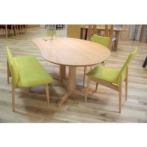 レッドオークMirage ミラージュ140テーブルOC+椅子2+セティ 木部色・椅子生地選択可 家具産地大川製|ekaguya