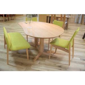 レッドオークMirage ミラージュ140テーブルOC+椅子3+セティ 木部色・椅子生地選択可 家具産地大川製|ekaguya