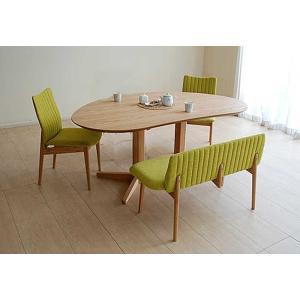 レッドオークMirage ミラージュ160テーブルOC+椅子2+セティ 木部色・椅子生地選択可 家具産地大川製|ekaguya