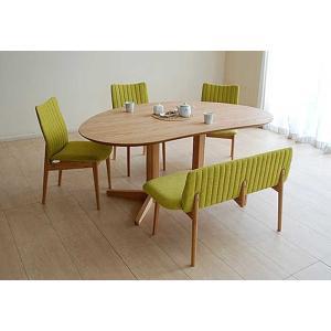 レッドオークMirage ミラージュ160テーブルOC+椅子3+セティ 木部色・椅子生地選択可 家具産地大川製|ekaguya