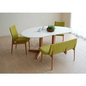 受注生産UV塗装Mirage ミラージュ160テーブルRW/OC+椅子2+セティ 脚色・生地選択可 家具産地大川製|ekaguya