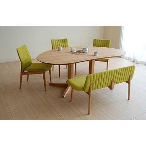 レッドオークMirage ミラージュ180テーブルOC+椅子3+セティ 木部色・椅子生地選択可 家具産地大川製|ekaguya