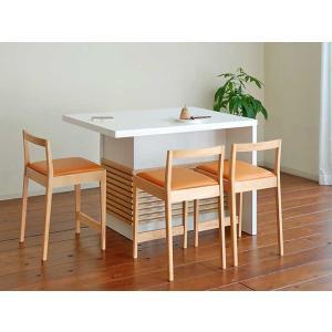 モナミ120カウンターテーブル ロイヤルホワイトUV塗装 Monami120RW CounterTable W120×D80×H85|ekaguya