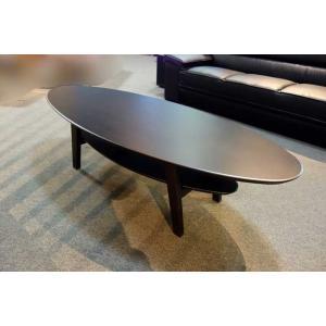 安心国産 ナラ楕円 T-001 1200リビングテーブル W1200×D600×H400|ekaguya