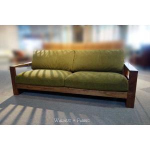 厳選国産 ウォールナットRN三人用ソファー MTRf2-3 W200×D83×H76 orレッドオークorタモの木種・張生地・オイルorウレタン塗装が選べる|ekaguya