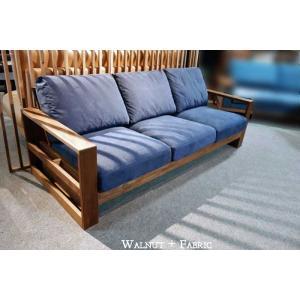 厳選国産 ウォールナットRN 三人用ソファー MTRu2-3 W200×D83×H76 orレッドオークorタモの木種・張生地・オイルorウレタン塗装が選べる|ekaguya
