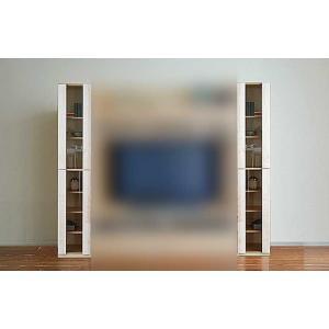 メープルNEW Berg ニューベルク ガラス戸34MN メープルナチュラル色 W340×D467×H1800 大川製|ekaguya