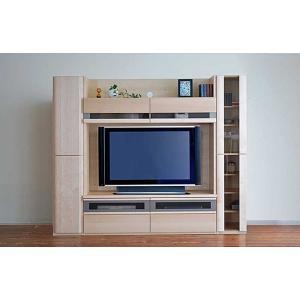 メープルNEW Berg ニューベルク218MN TVset メープルナチュラル色 板戸34&150TV&ガラス戸34 W2180×D482×H1800 大川製|ekaguya