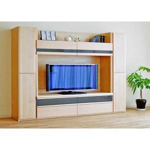 メープルNEW Berg ニューベルク248MN TVset メープルナチュラル色 板戸34&180TV&板戸34 W2480×D482×H1800 大川製|ekaguya