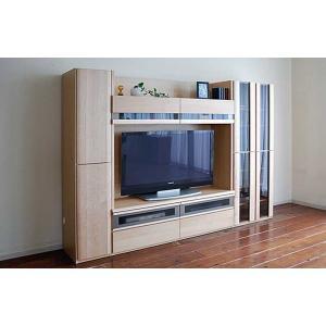 メープルNEW Berg ニューベルク250MN TVset メープルナチュラル色 ガラス戸66&150TV&板戸34 W2494×D482×H1800 大川製|ekaguya
