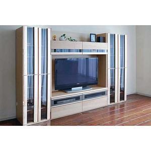 メープルNEW Berg ニューベルク282MN TVset メープルナチュラル色 ガラス戸66&150TV&ガラス戸66 W2808×D482×H1800 大川製|ekaguya