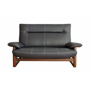 厳選国産 PANSER 2P パンサー 二人用 ソファー スムース調革張り W1520×D850×H920×SH400 革色・木部色が選べる 受注生産|ekaguya